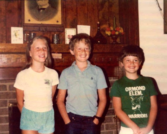 The author (middle) with his cousin Terri (L) and younger brother, Chuck (R).