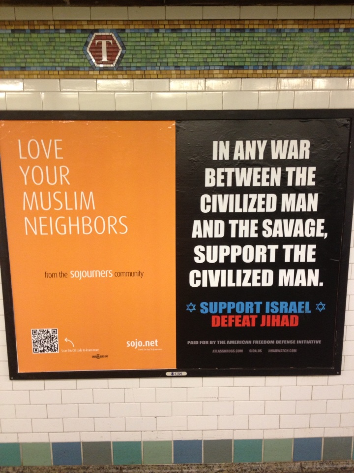 Ads in NYC subway