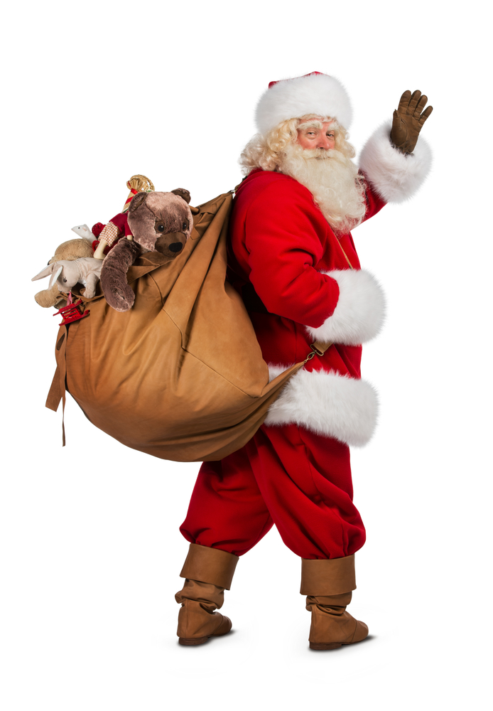 Image result for santa and gifts