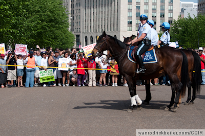 Police on Horseback at White House