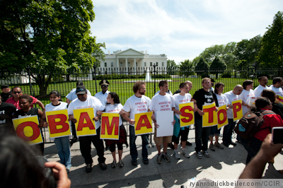 Immigration Protest at White House