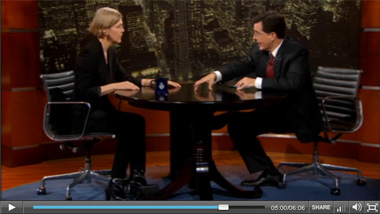 100506-elizabeth-warren-stephen-colbert-video