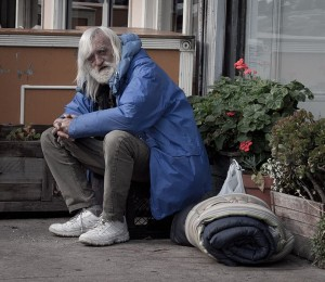 A homeless man on San Francisco's Mission Street. Photo by Franco Folini, www.flickr.com/photos/livenature/