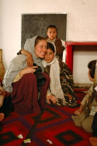 Heather Wilson in Afghanistan.