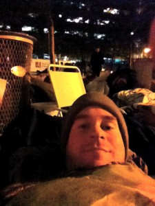 tim at occupy sleeping