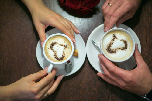 Image result for couple coffee hot