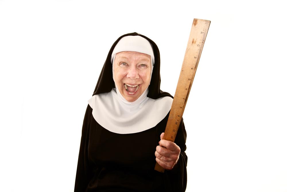 Menacing nun
