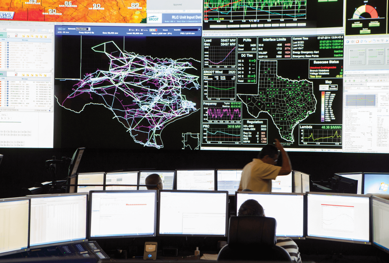 A photo of the Texas power grids during the power outage in February.