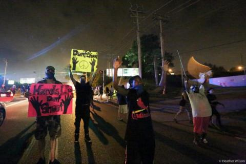 Protests Aug.17. Photo courtesy Heather Wilson / PICO