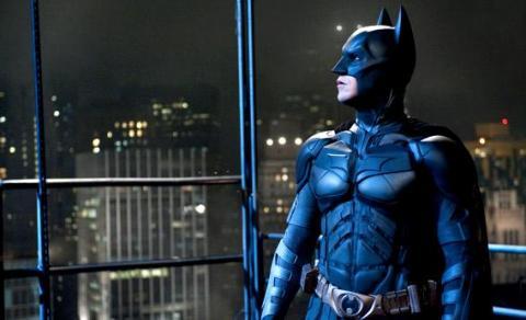 "Christian Bale as Batman in ""The Dark Knight Rises."" Photo via Warner Bros."
