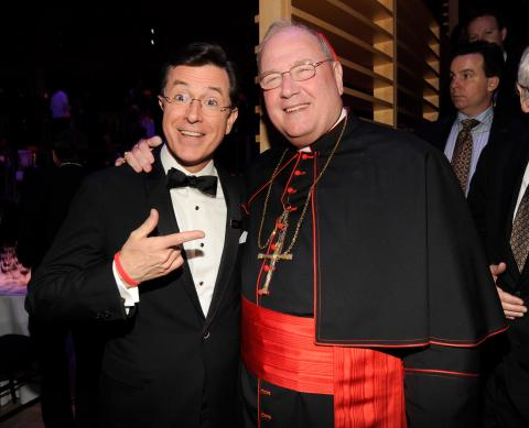 Colbert and Dolan. Photo by Kevin Mazur via Getty Images.