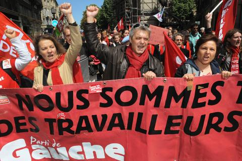 May Day workers' event in Bordeaux, France. PIERRE ANDRIEU/AFP/GettyImages.