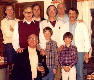 The author (center middle sans corduroy Sunday suit) circa 1980. Photo courtesy