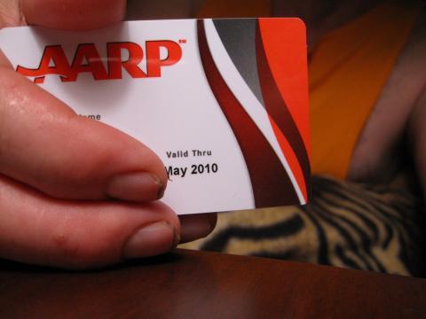 AARP card, via Durham Moose / Flickr