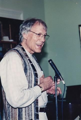 Walter Wink preaching, from the Fellowship of Reconciliation archives.