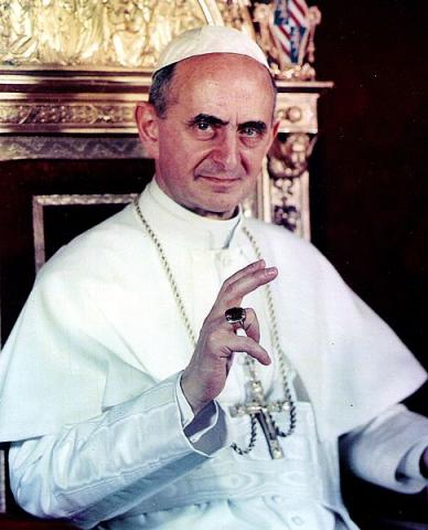 Pope Paul VI. Image via Wiki Commons, http://bit.ly/xCeHRU.