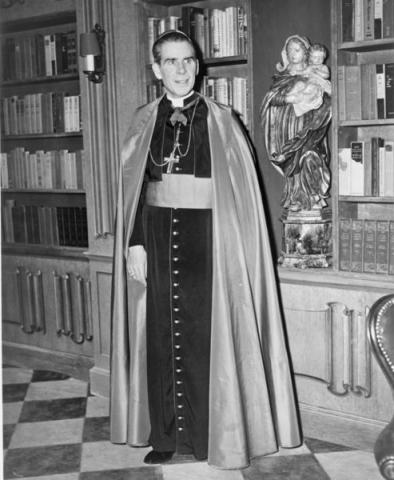 Archbishop Fulton Sheen circa 1952.