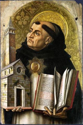 A 15th-century painting of St. Thomas Aquinas. Image via RNS.