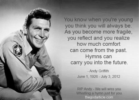 Andy Griffith tribute image by TheGodArticle.com via Facebook.