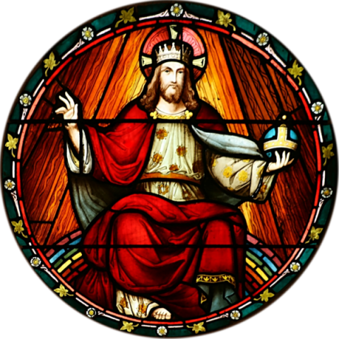 Stained glass panel in the transept of St. John Church, Ashfield, NSW.