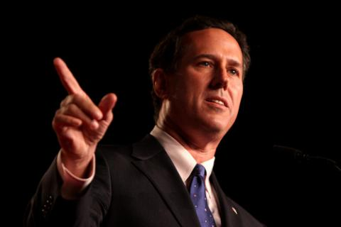 Rick Santorum. Image via Wylio http://www.wylio.com/credits/Flickr/6184431370