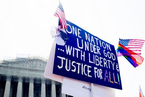 Sign outside the Supreme Court, photo by Victoria Pickering / Flickr.com