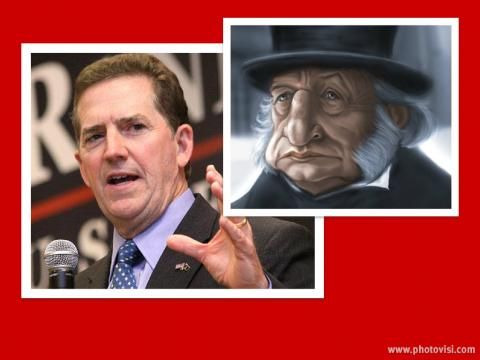 Sen. Jim Demint (L) and Ebenezer Scrooge (R)Photos via Wiki Commons,http://bit.