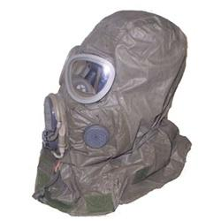 Gas mask hood to protect the head and neck area. Photo courtesy RNS/ArmyGasMasks