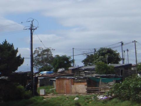 Squatter camp in South Africa. Photo courtesy of Tom Getman.