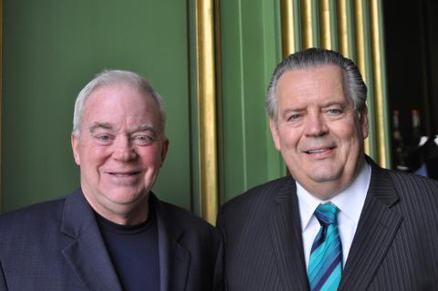 Jim Wallis and Richard Land at the Q conference, Cathleen Falsani/Sojourners