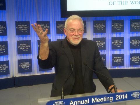 Jim Wallis speaking at the World Economic Forum in Davos
