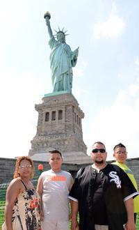 Felipe's family at the Statue of Liberty. Courtesy Felipe Diosdado