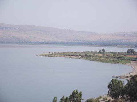 Overlooking the Sea of Galilee, photo courtesy Jon Huckins