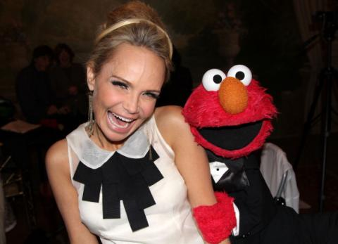 Mizz Chenoweth (with Elmo) at the Drama Desk Awards, 2012. Bruce Glikas/FilmMagi