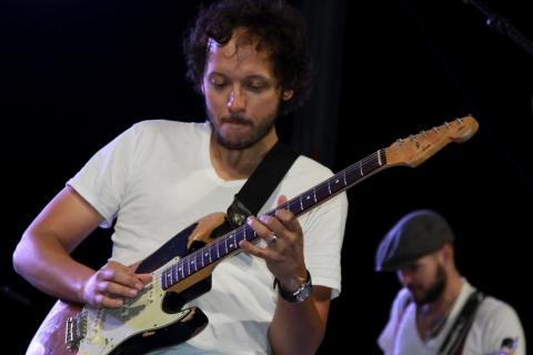 Michael Gungor performs at Wild Goose West. Photo by Bill Dahl for Wild Goose.