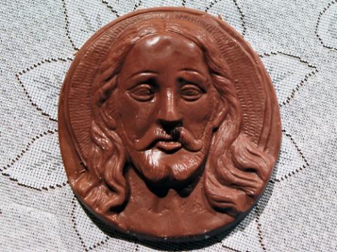 Chocolate Jesus. Image via Wiki Commons, http://bit.ly/wXJOBI.