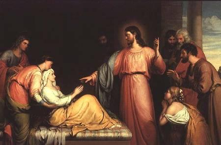 """Jesus Healing the Mother of Simon-Peter."" Via Wiki Commons http://bit.ly/zTeWKC"