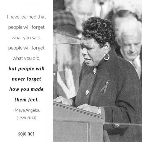 Maya Angelou, public domain; illustration by Brandon Hook / Sojourners