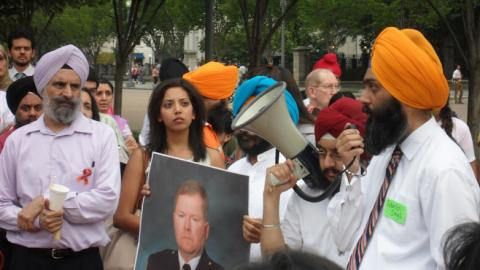 Prayer vigil near the White House for the Sikh community. Photo by Rose Marie Be