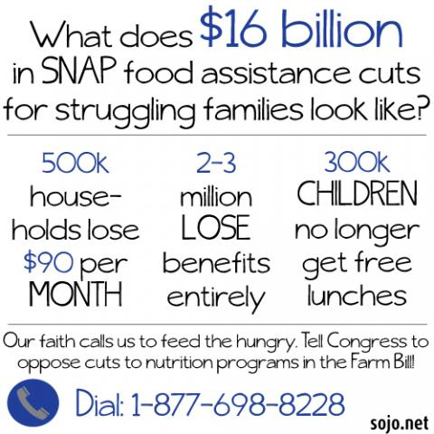 SNAP stats illustration. Sandi Villarreal / Sojourners