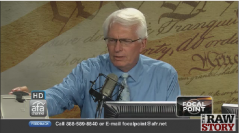 Screenshot of Bryan Fischer's webcast