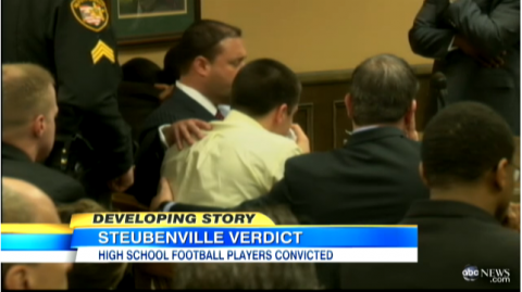 Screenshot from trial video, ABC News