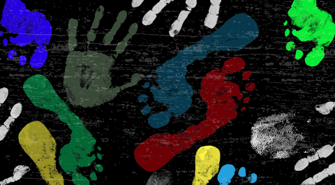 Hand and foot prints. Vector illustration courtesy ducu59us/shutterstock.com