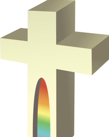 Vector image of cross. Photo courtesy zzveillust/shutterstock.com