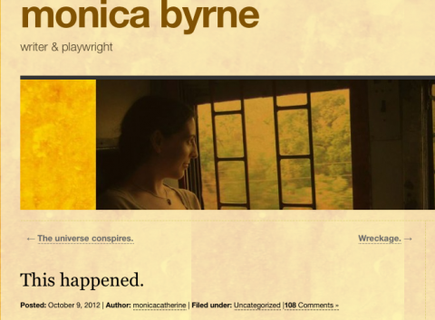 Monica Byrne's blog