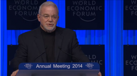 Jim Wallis speaking at the World Economic Forum
