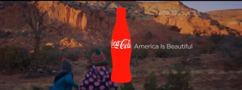Coca-Cola Super Bowl commercial screenshot