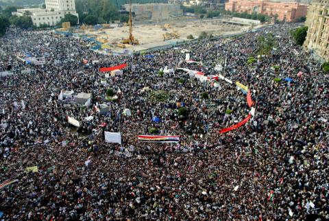 Tahrir Square, November 2011. Image via Wiki Commons.