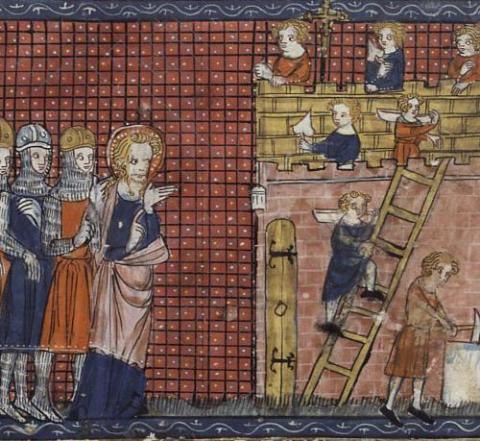 Saint Valentine of Terni and his disciples. Via http://bit.ly/deGE9S