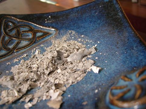 Ash Wednesday ashes. Image via Wylio, http://bit.ly/zWZxhw.